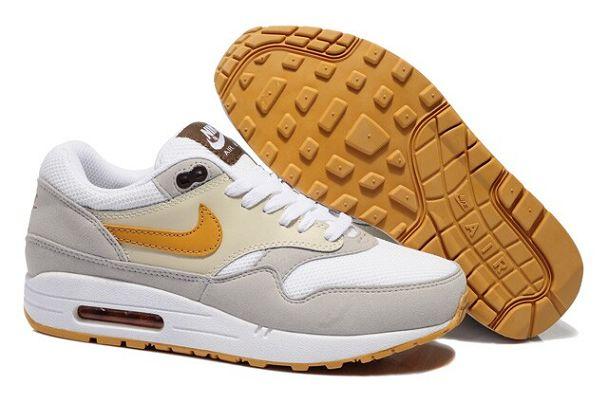 Discount Nike Air Max 1 Essential Sneakers Beige/White-Grey-Gold Online,Nike UK Sale Store