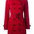 Burberry Kensington coat, Women's, Size: 6, Red, Cotton/Viscose