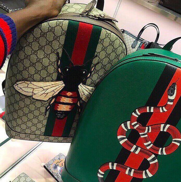 6f10c05f4 Gucci Web Animalier backpack with bee
