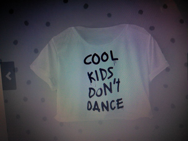 t-shirt cool kids don't dance streetstyle black white crop short