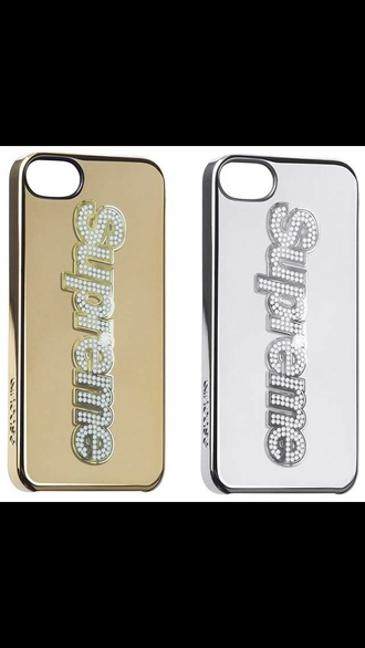 jewels supreme phone cover sliver gold dimonds