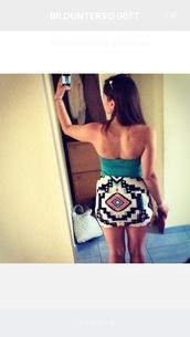 skirt,folk,summer outfits,bershka,mint,mint skirt,short skirt,ladylike,greek,versace