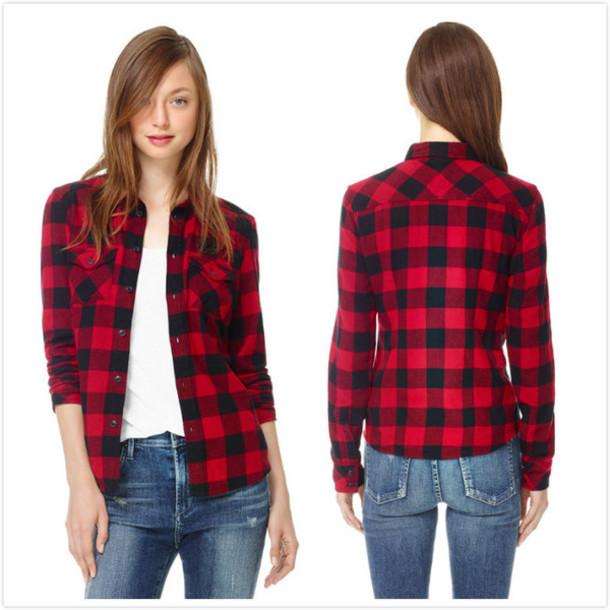 black red plaid shirt blouse checkered checkered shirt flannel check grunge