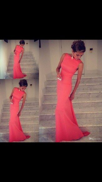 dress coral coral dress beautiful dress pretty dress