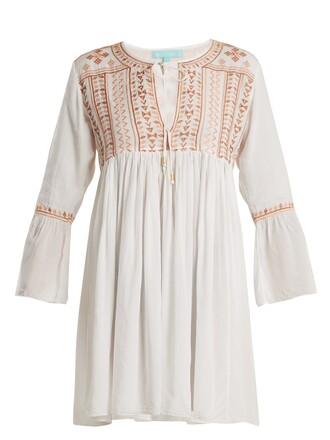 dress mini dress mini embroidered white