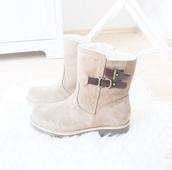 boots,suede,short,short boots,shoes,beige shoes,buckles