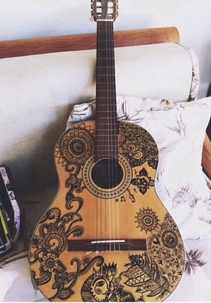 shirt stickers design guitar tribal designs wheretoget With best brand of paint for kitchen cabinets with guitar body stickers