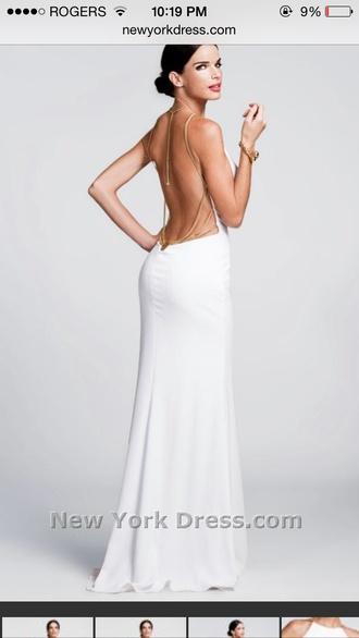 low back dress prom dress white dress nicole bakti