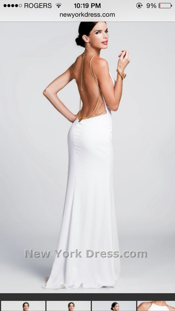 low back dress prom dress white dress Nicole Bakti