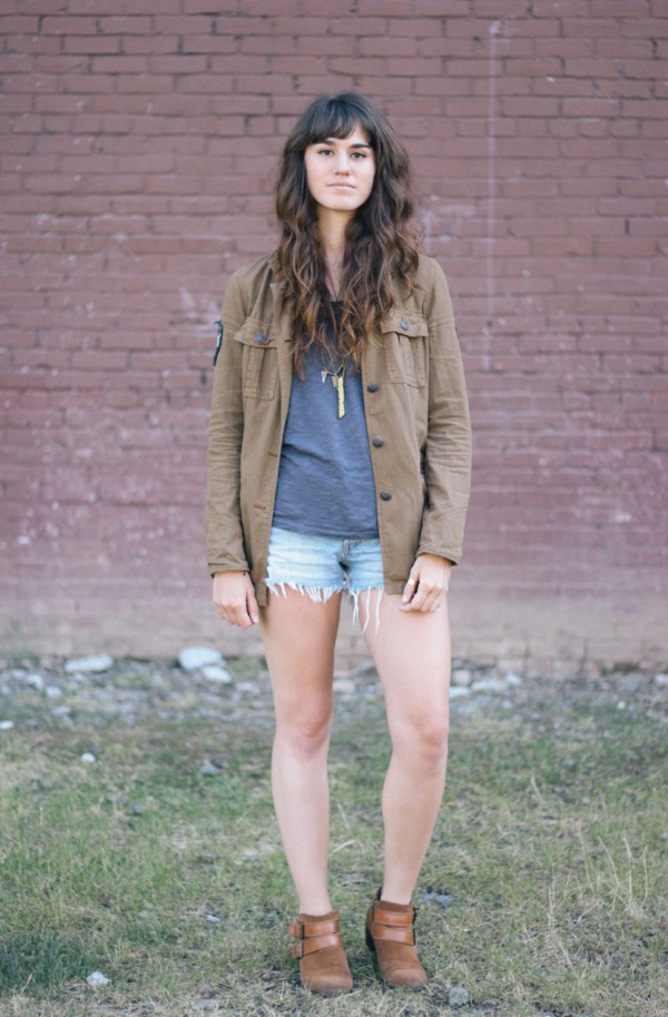 the mop top jacket t-shirt shorts shoes jewels hipster indie boho High waisted shorts denim shorts boots