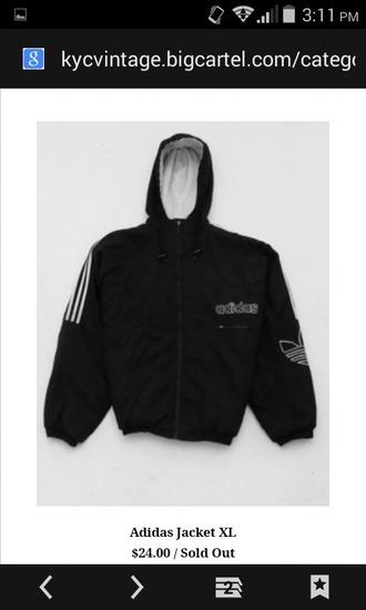 jacket adidas jacket black and white sportswear sports jacket hooded jacket adidas sportswear