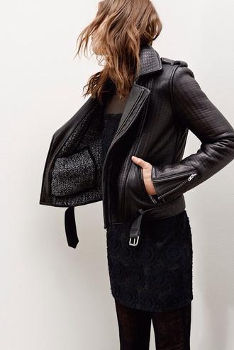 jacket biker black jacket leather jacket