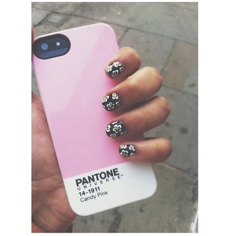 phone cover pink case iphone lovely turnt nail polish nail art little black dress lipstick nails matte trendy wedges all star converse wedges girl