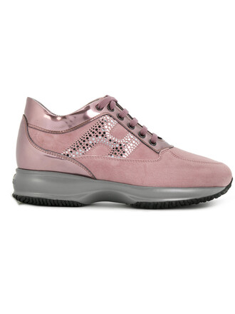 women sneakers leather suede purple pink shoes