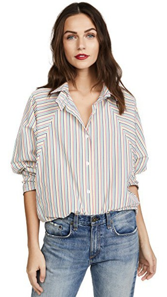 Petersyn shirt button down shirt rainbow top