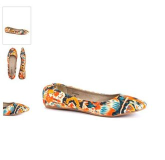 shoes aztec ballerina impressionism colorful