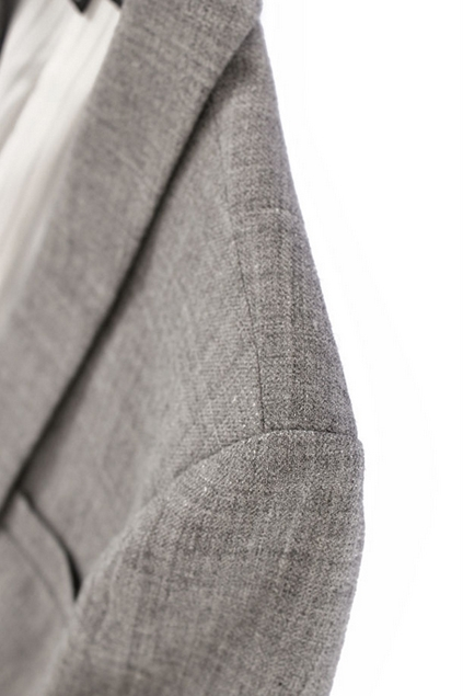 Shawl Collar Single Breasted Grey Blazer - OASAP.com