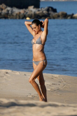 swimwear bikini top bikini bikini bottoms alessandra ambrosio summer summer outfits beach
