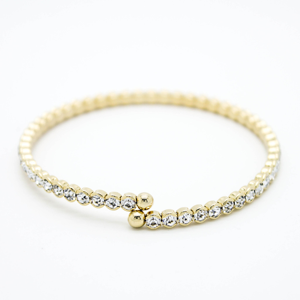 Cubic Zirconia bangle bracelet