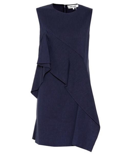 Diane von Furstenberg Linen-blend dress in blue