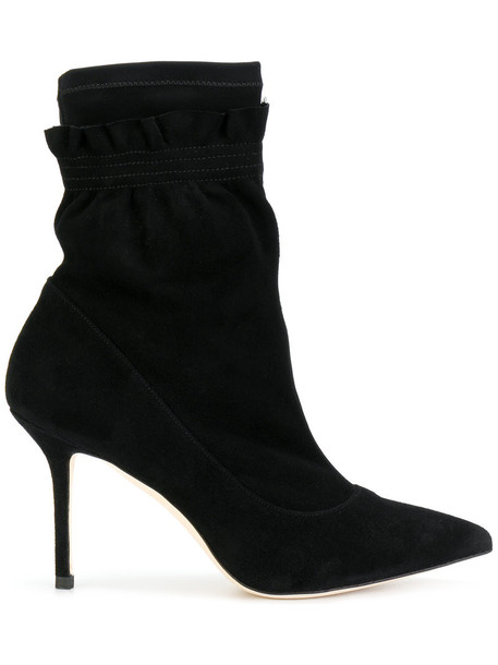 Benedetta Boroli women ankle boots leather suede black shoes