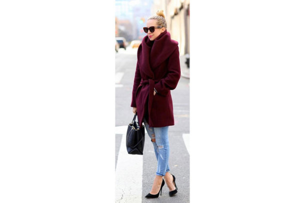 jacket burgundy red wine color