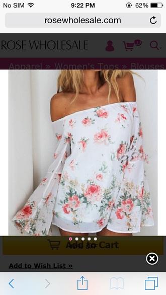 girly rose floral romper floral romper off the shoulder long sleeve romper long sleeves chiffon summer