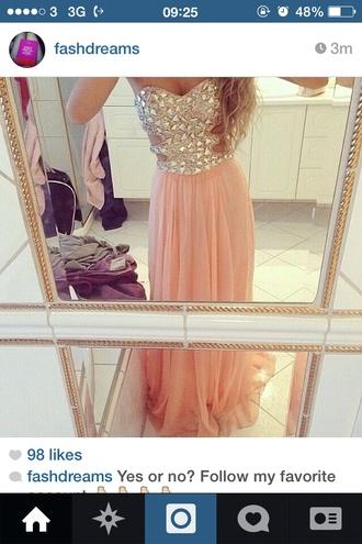 dress pink strapless chiffon diamonds nigga bustier dress chiffon dress