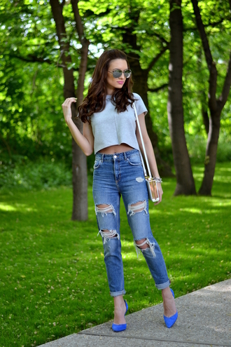 my silk fairytale jeans blouse shoes bag