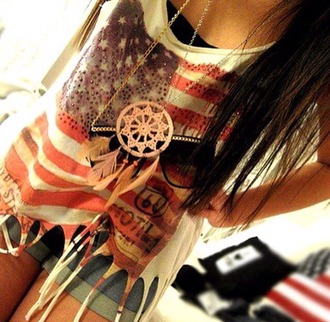 america fringes red white and blue