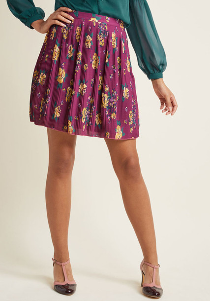 Modcloth skirt mini skirt mini chiffon pleated