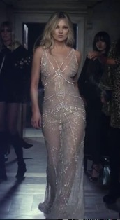 dress,diamonds,nude dress,kate moss,model,celebrity,perfume,chic,love,charlotte tilbury