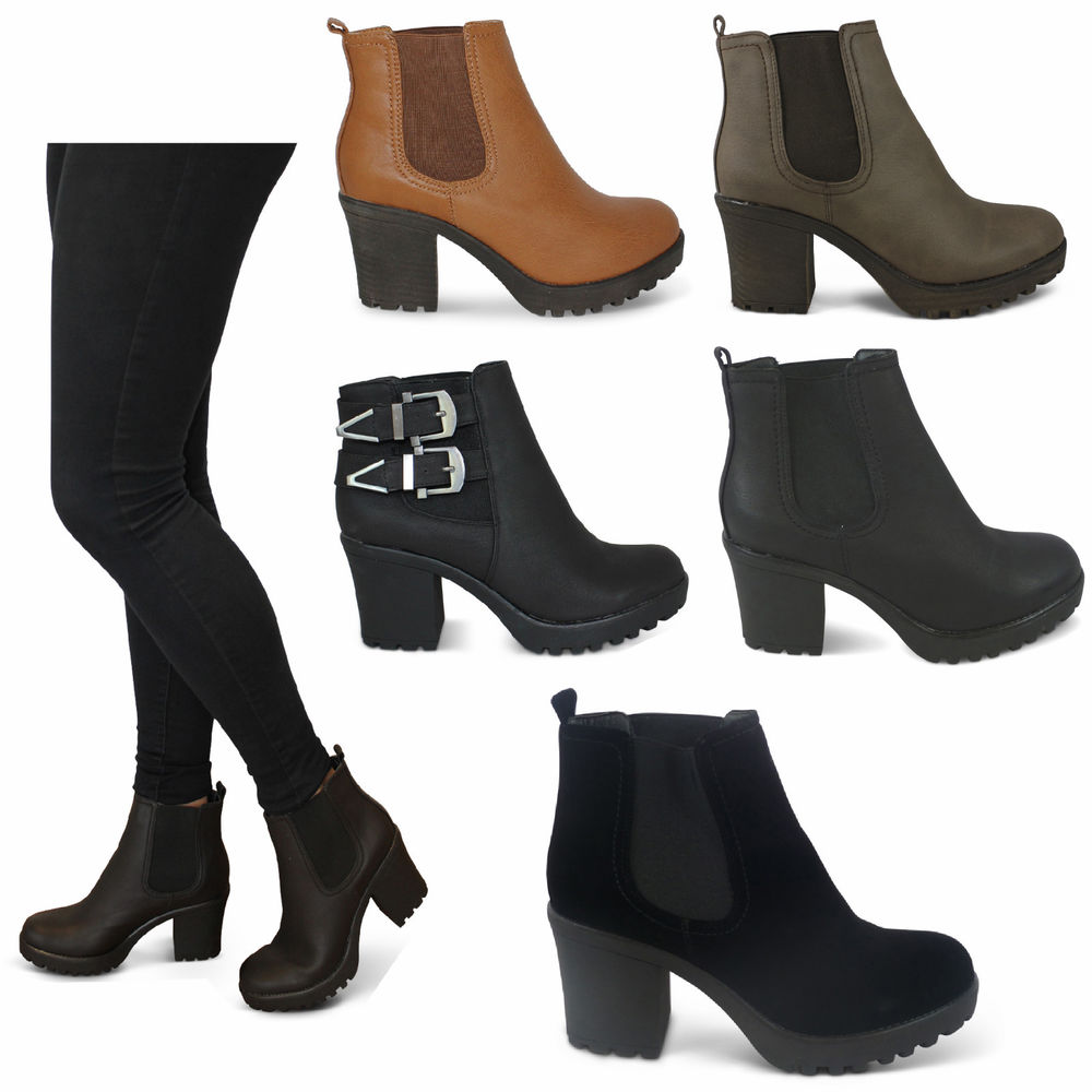 Chunky Block Heel Boots - Is Heel
