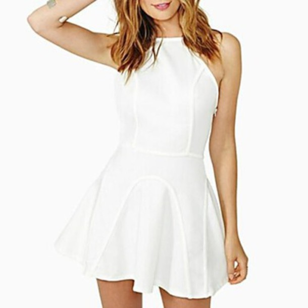 dress mini dress white dress