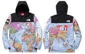 jacket,coat,map print,north face,windbreaker,supreme