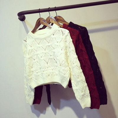 Knitted cropped sweater · nouveau craze · online store powered by storenvy
