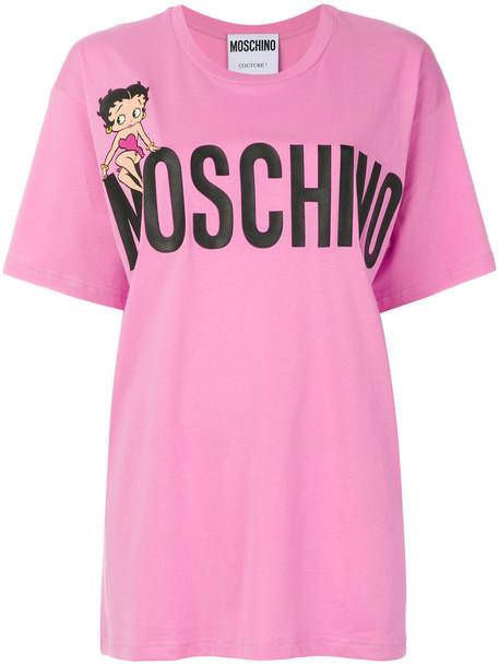 t-shirt shirt t-shirt oversized women betty boop cotton purple pink top