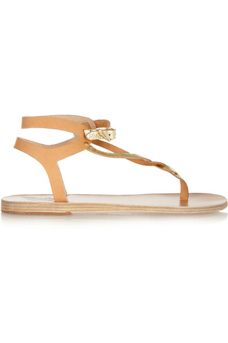 metallic sandals leather sandals leather neutral shoes