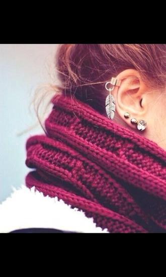 jewels boucle d'oreille plume