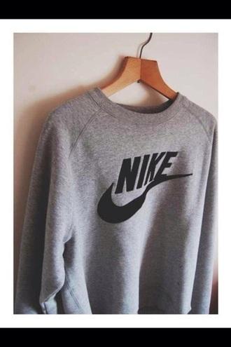 sweater nike sweater grey sweater