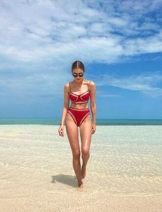 swimwear bikini bikini top bikini bottoms olivia culpo beach instagram