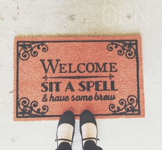 home accessory halloween doormat door mat halloween doormat tim burton creepy spooky october beetlejuice american horror story coven witch witchy halloween themed nightmare before christmas hocus pocus