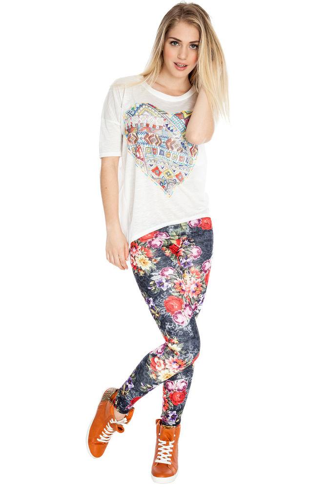 Goddiva Floral Print Leggings | eBay
