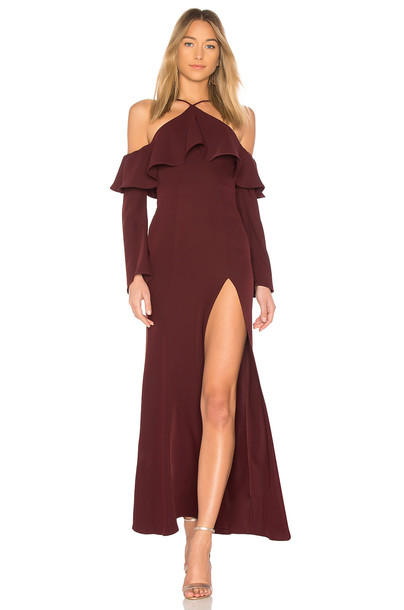 MAJORELLE dress burgundy