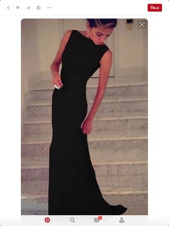 dress black dress long dress classy dress