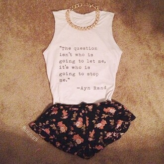 shorts cute shorts cute shirt cute necklace gold necklace white t-shirt top