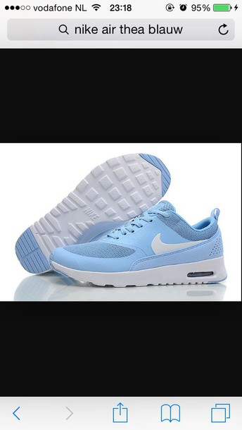 shoes blue nikes nike air max thea