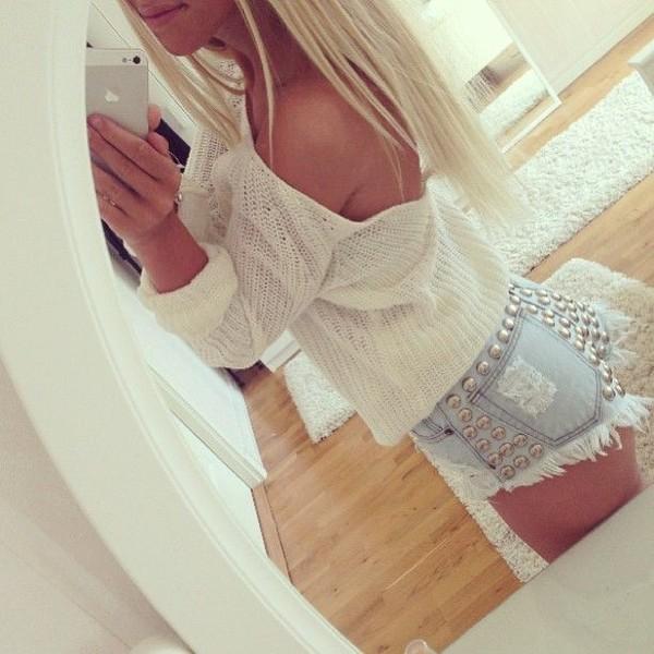 shorts blouse sweater