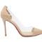 4 inch heels - beige plexi heels