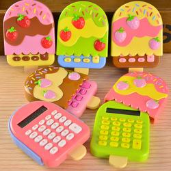 Online shop chromophous sweet ice cream flip style mini student calculator korea stationery computer